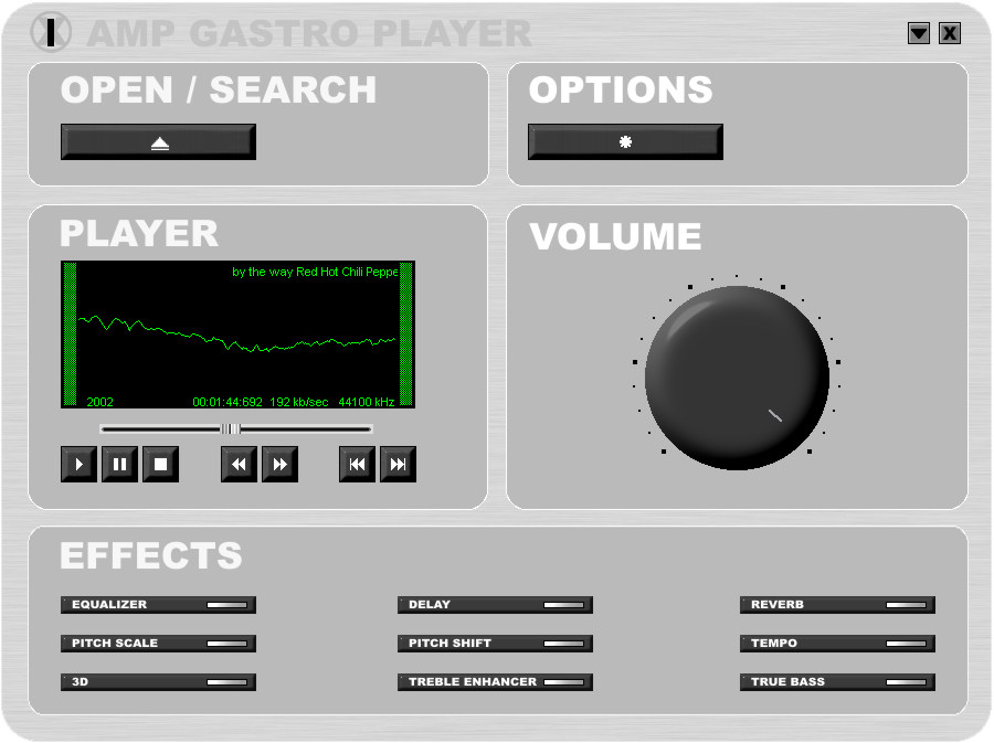 1X-AMP the Audio Player for your Computer