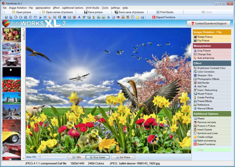 FotoWorks XL 2020 full screenshot